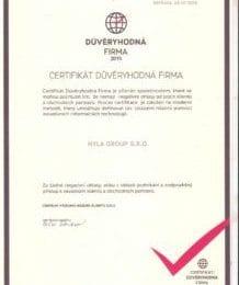 certifikát důvěryhodná firma hyla