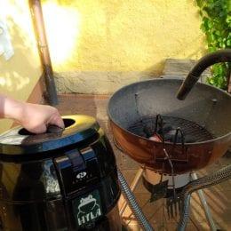 rozfoukání grilu